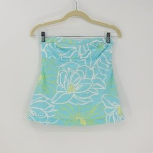 Lilly Pulitzer Strapless Flower Print Empire Top
